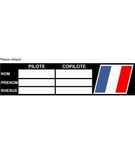 Plaque compétition Pilote